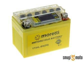 Akumulator Moretti YTX4L-BS (żelowy z voltomierzem) + kaucja 30 zł