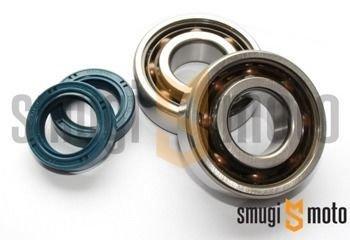 Łożyska wału i uszczelniacze SMG Racing Teflon, Peugeot leżący (SKF + Corteco)