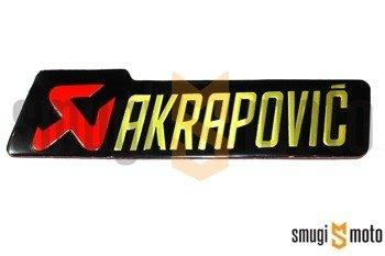 Naklejka Akrapovic, aluminium (różne wielkości)