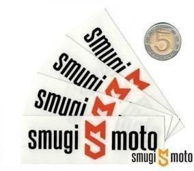 Naklejka z logo SMUGI-MOTO, 89x30mm (różne kolory)