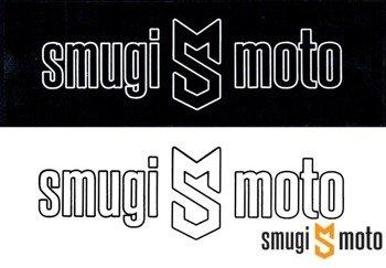 Naklejka z logo SMUGI-MOTO, kontur, 152x50mm (różne kolory)