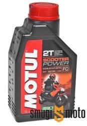 Olej Motul Scooter Power 2T, 1 litr (100% syntetyk)