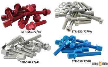 Śruby pokrywy wariatora STR8 New Style, Minarelli (różne kolory)