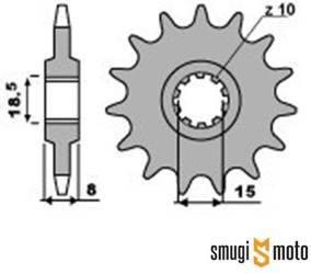 Zębatka przednia ESJOT [415], Minarelli AM3/5, 10 klinów (różne rozmiary)