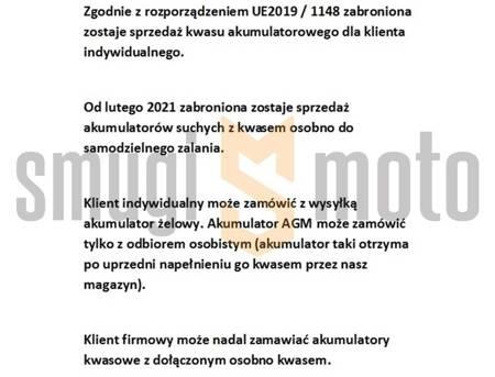 Akumulator WM YTX12-BS, 12V 10AH 150x87x130 (zalany)