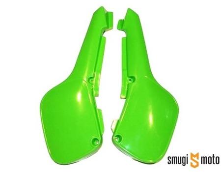 Boczki tylne UFO, zielone, Kawasaki KX 60 '84-06