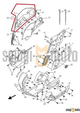 Chwyt powietrza przy baku, strona prawa, czarny (MBL2), Yamaha MT 125 '15-17