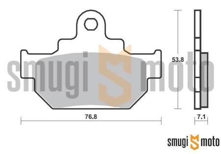 Klocki hamulcowe SBS Street Ceramic Black M89 (np. Suzuki LS 650 Savage)