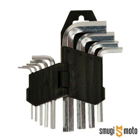 Klucze imbusowe 1.5 - 10mm, 9 szt.