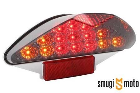 Lampa STR8 LED Black Line z kierunkowskazami, Nitro / Aerox / RS -99 / Focus... (E)