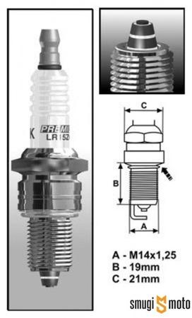 Świeca zapłonowa Brisk Multi-Spark BR8E