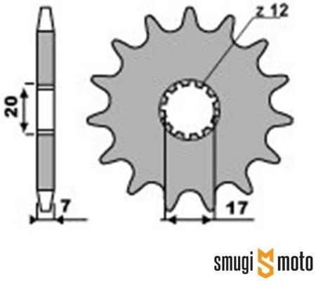 Zębatka przednia PBR [428] Minarelli AM6 (HM CRE 50) (różne rozmiary)