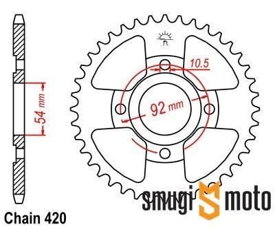 Zębatka tylna JT [420] Yamaha TZR 50 (różne rozmiary)