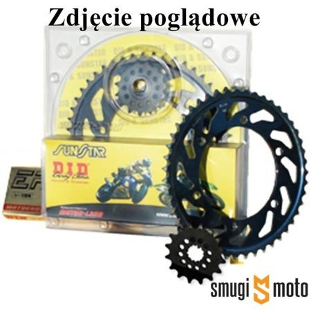 Zestaw napędowy DID420AD + zębatki, Yamaha DT 50 / Peugeot XP6 / Beta RR